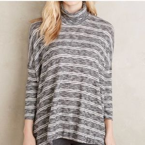 Anthropologie Sweaters - Anthropologie Postmark Striped Swing Turtleneck